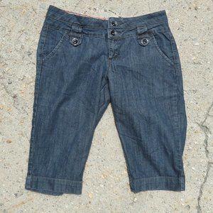 One 5 One Petite Ladies Long Blue Shorts Size 10P